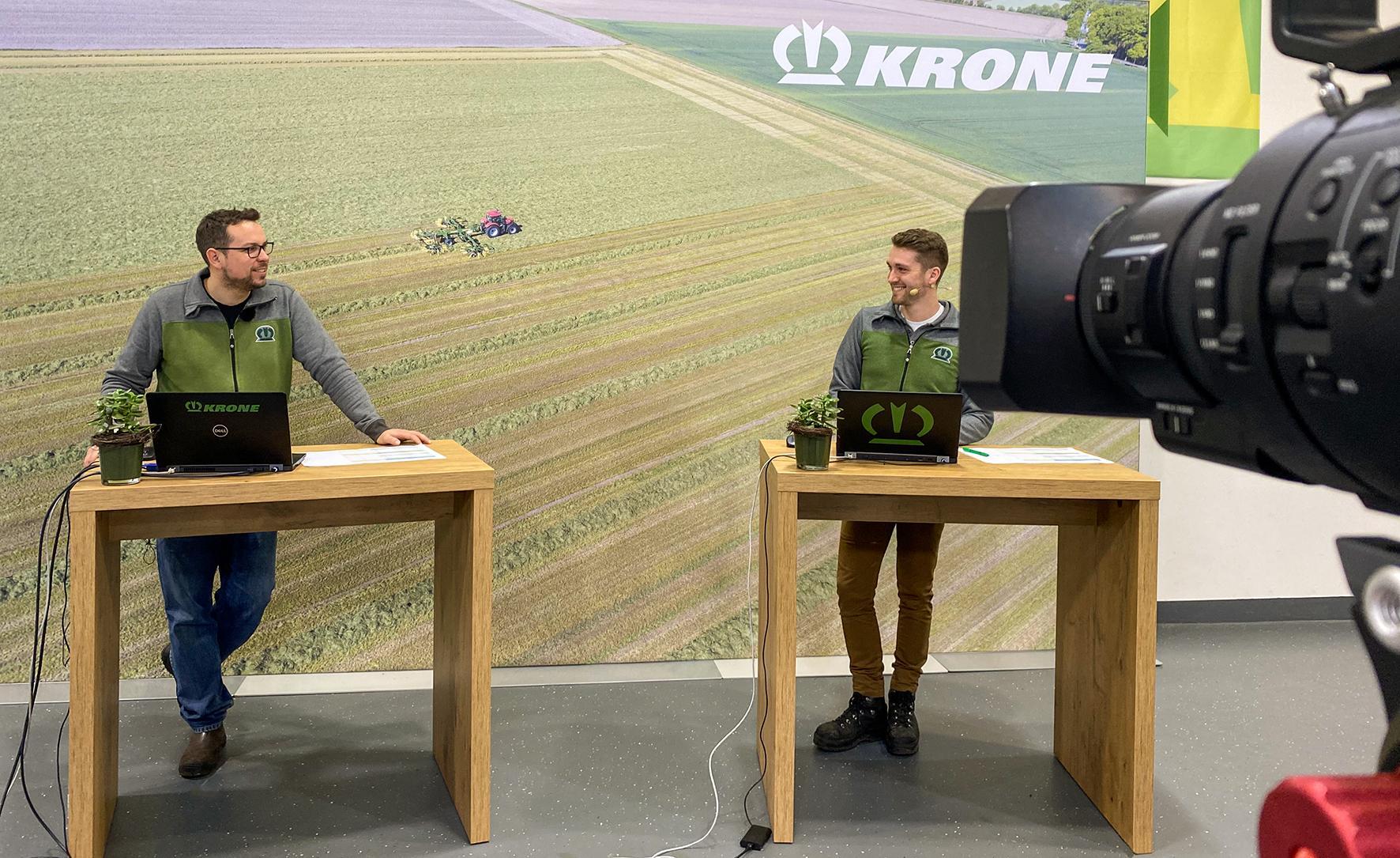 Навчання в потоковому режимі – пряма трансляція з навчального центру Krone Понад 100 учасників із 16 країн пройшли навчання одночасно